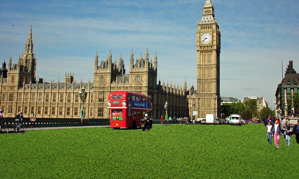 fake-grass Londoners Evangelize Artificial Grass